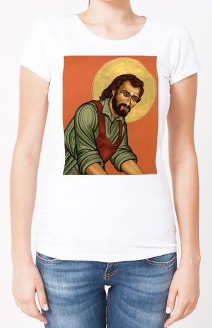 Ladies T-shirt - St. Joseph the Worker by L. Williams