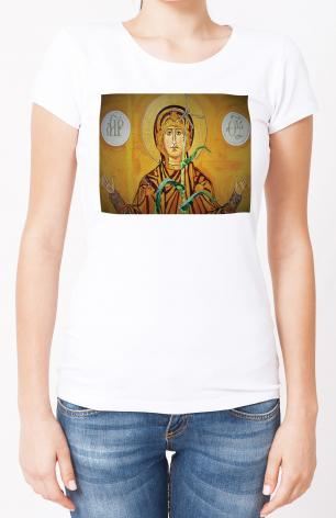 Ladies T-shirt - Our Lady of the Harvest by L. Williams