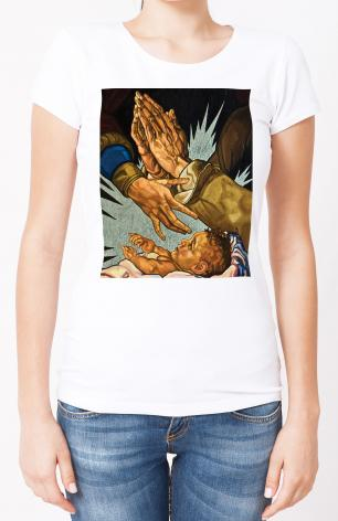 Ladies T-shirt - Nativity by L. Williams