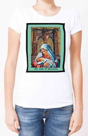 Ladies T-shirt - Our Lady of Brooklyn by L.Williams