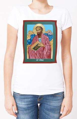 Ladies T-shirt - St. Paul of the Shipwreck by L. Williams