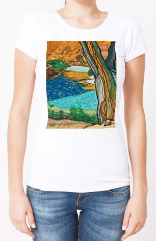 Ladies T-shirt - Tree In Eden by L. Williams
