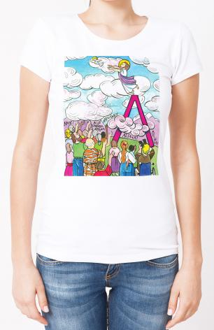 Ladies T-shirt - All Apostles At Ascension by M. McGrath