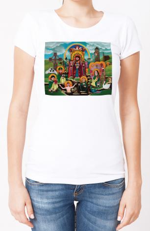 Ladies T-shirt - St. Brigid's Lake of Beer by M. McGrath