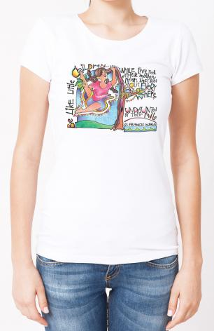 Ladies T-shirt - Be Like Little Children 3 by M. McGrath