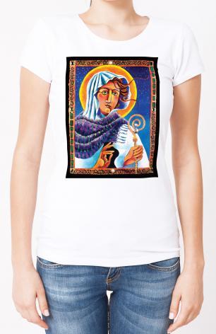 Ladies T-shirt - St. Brigid by M. McGrath