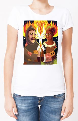 Ladies T-shirt - St. Francis of Assisi: Br. Sun, Sr. Thea by M. McGrath