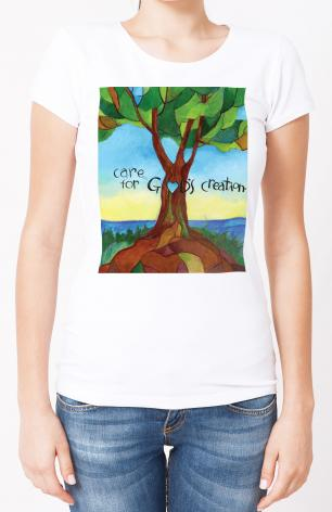 Ladies T-shirt - Care For God's Creation by M. McGrath