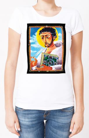 Ladies T-shirt - St. Columcill by M. McGrath