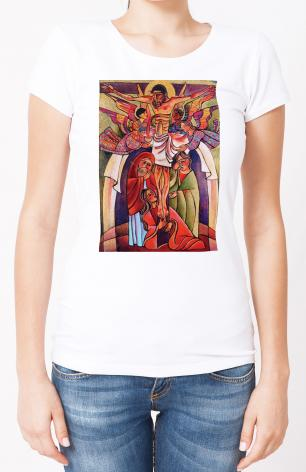 Ladies T-shirt - Crucifixion by M. McGrath