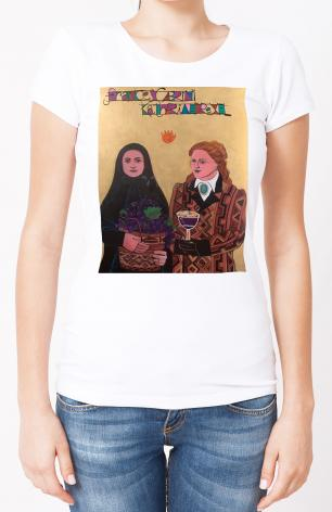 Ladies T-shirt - Sts. Drexel and Cabrini by M. McGrath