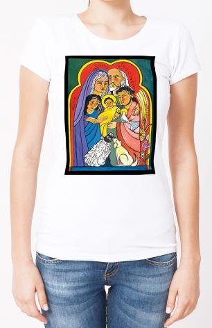 Ladies T-shirt - Extended Holy Family by M. McGrath