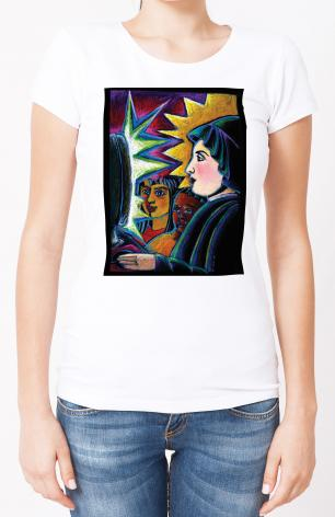 Ladies T-shirt - St. Elizabeth Seton by M. McGrath