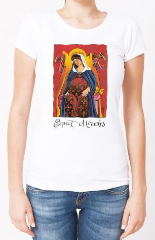 Ladies T-shirt - Mary: Expect Miracles by M. McGrath