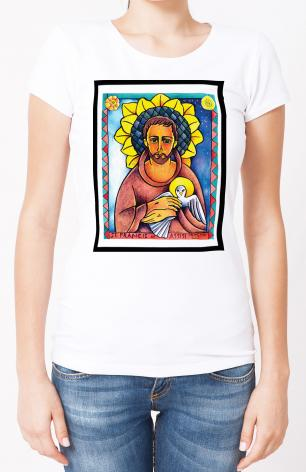 Ladies T-shirt - St. Francis of Assisi by M. McGrath