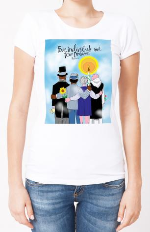 Ladies T-shirt - Four Individuals and Four Dreams by M. McGrath