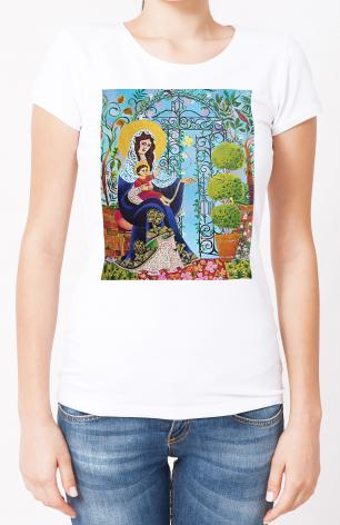 Ladies T-shirt - Mary, Gate of Heaven by M. McGrath