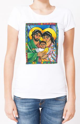 Ladies T-shirt - Holy Family by M. McGrath
