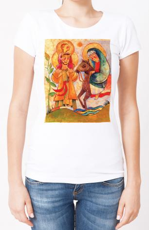 Ladies T-shirt - Holy Family: Giotto by M. McGrath