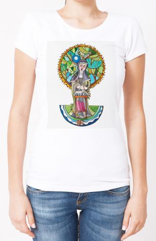 Ladies T-shirt - St. Hildegard by M. McGrath