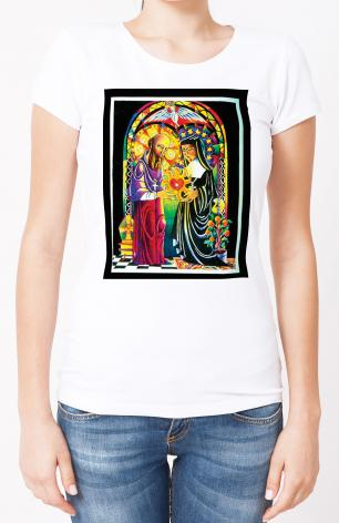 Ladies T-shirt - One Heart, One Soul by M. McGrath