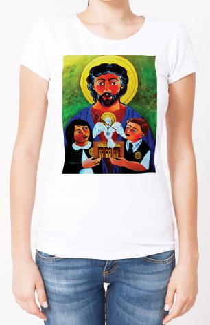Ladies T-shirt - St. Luke the Evangelist by M. McGrath