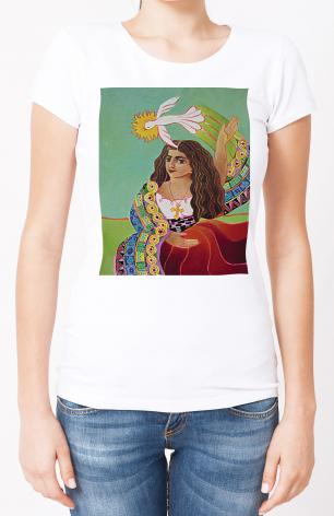 Ladies T-shirt - St. Mary Magdalene and Holy Spirit by M. McGrath