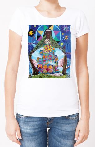 Ladies T-shirt - Mary, Our Lady of Refuge by M. McGrath