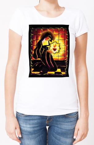 Ladies T-shirt - St. Margaret Mary Alacoque by M. McGrath