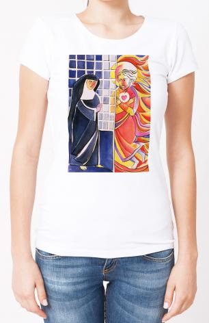 Ladies T-shirt - St. Margaret Mary Alacoque, Cloister by M. McGrath