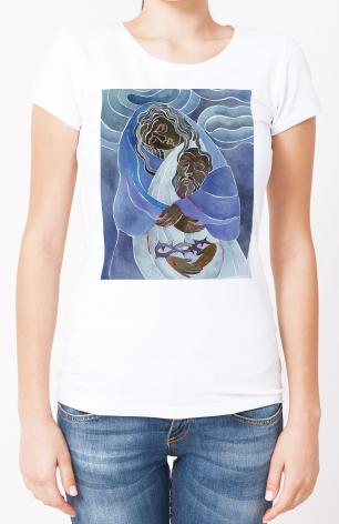 Ladies T-shirt - Mary, Mother of Sorrows by M. McGrath