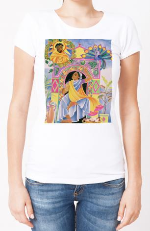 Ladies T-shirt - St. Mary Magdalene at the Tomb by M. McGrath