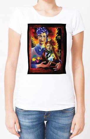 Ladies T-shirt - Madonna of the Holocaust by M. McGrath