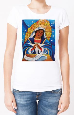 Ladies T-shirt - Our Lady of Altagracia by M. McGrath
