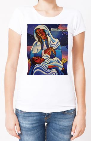 Ladies T-shirt - Our Lady of the Divine Providence by M. McGrath
