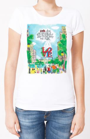 Ladies T-shirt - Pope Francis: Philly Love by M. McGrath