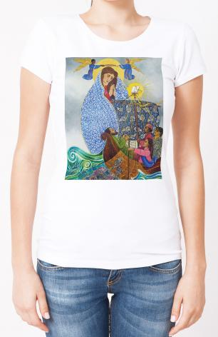 Ladies T-shirt - Mary, Queen of the Apostles by M. McGrath