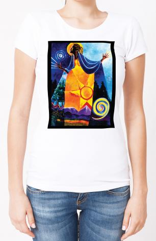 Ladies T-shirt - Queen of Heaven, Mother of Earth by M. McGrath