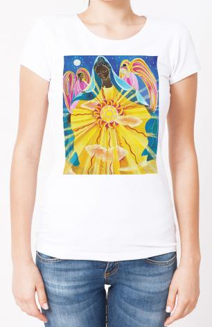 Ladies T-shirt - Mary, Queen of the Universe by M. McGrath