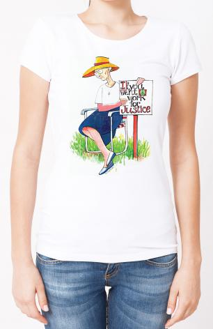 Ladies T-shirt - Work for Justice by M. McGrath