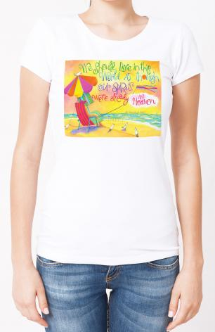 Ladies T-shirt - We Should Live In This World by M. McGrath