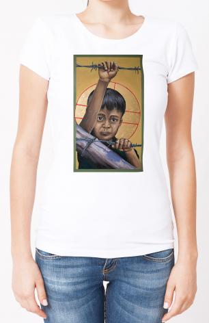 Ladies T-shirt - Christ the Dreamer by M. Reyes