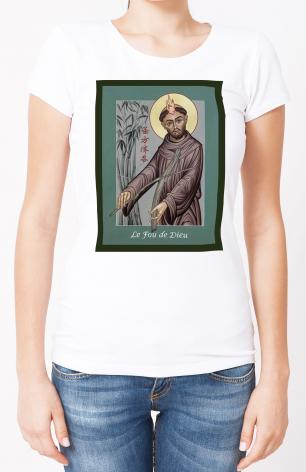 Ladies T-shirt - St. Francis, Le Fou de Dieu by M. Reyes