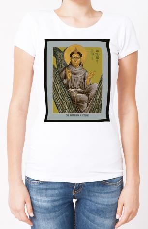 Ladies T-shirt - St. Anthony of Padua by R. Lentz