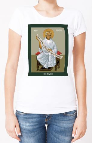Ladies T-shirt - St. Aelred of Rievaulx by R. Lentz