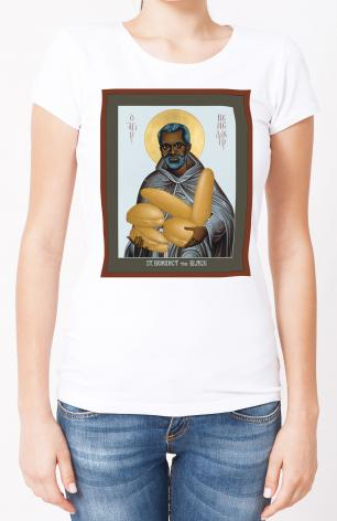 Ladies T-shirt - St. Benedict the Black by R. Lentz