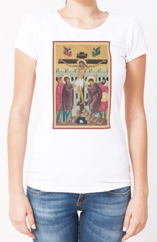 Ladies T-shirt - Crucifixion by R. Lentz
