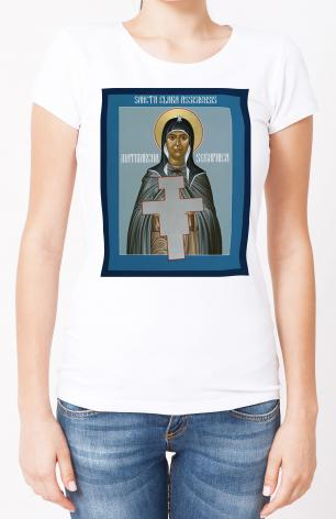 Ladies T-shirt - St. Clare of Assisi: Seraphic Matriarch by R. Lentz