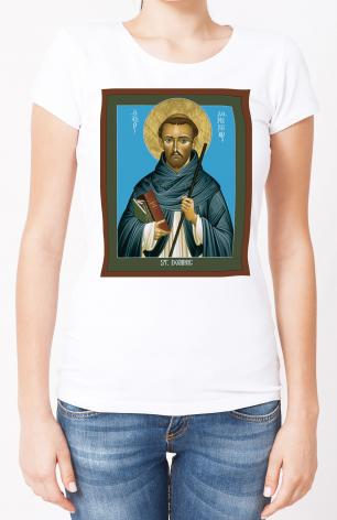 Ladies T-shirt - St. Dominic Guzman by R. Lentz