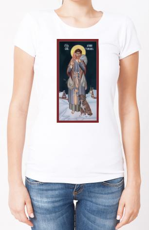 Ladies T-shirt - St. Domna of Tomsk by R. Lentz